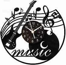 Cmdzsw Vinyle Enregistrer Horloge Murale Musique