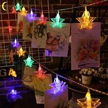 Cmoonfall luces de navidad décoration chaîne