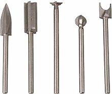 CNBTR Steel 45 Lot de 5 forets à graver