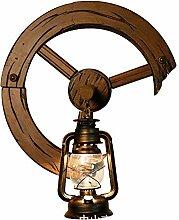 CNCDRS Bar Applique Antique Cheval Lampe rétro