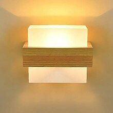 CNCDRS Mur Moderne en Bois Solide Simple Lampe