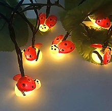 Coccinelle solaire 20LED guirlande lumineuse