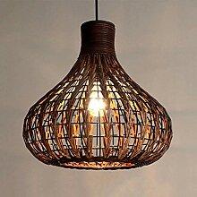 COCNI Suspensions en rotin en Osier Naturel Lampes