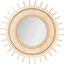 Cocora - Miroir rond en rotin