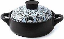 Cocotte Casserole, Céramique Marmite ronde,