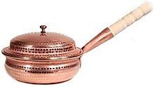Cocotte en cuivre pur fait main - Faitout en