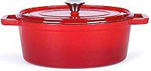 Cocotte ovale en fonte émaillée - Marmite avec