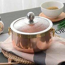COCOTTE shenlanyu Casserole 14 Cm Pur Cuivre Pot