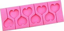 Coeur en Silicone Lollipops Moule Chocolat Bonbons