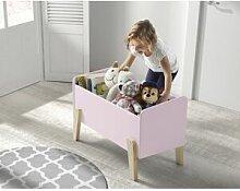 Coffre à jouet rose 2 étagères verticale –