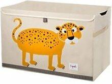 Coffre à jouets léopard