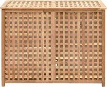 Coffre a linge 87,5x46x67 cm Bois de noyer massif