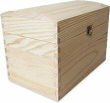 coffre boîte de rangement bois grande - 25 x 15 x