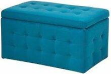 Coffre de rangement chesterfield bleu clair