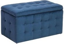 Coffre de rangement chesterfield bleu foncé