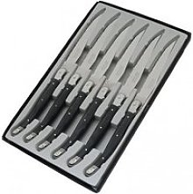 Coffret 6 couteaux de table laguiole postiche gris