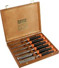 Coffret de 6 ciseaux à bois Bahco Ergo 434 6