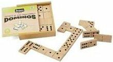 Coffret jeu de grands dominos en bois