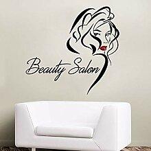 Coiffeur art stickers muraux salon de beauté mode