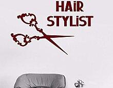 Coiffeur Sticker Ciseaux Salon De Coiffure Sticker