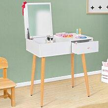 Coiffeuse enfant scandinave ELIZA blanche miroir