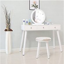 Coiffeuse style moderne blanc hombuy - table de