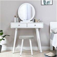 Coiffeuse style moderne blanc - table de