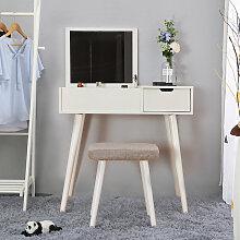 Coiffeuse Table de Maquillage contemporaine Miroir