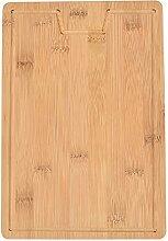 COKEA Planche à découper en bambou naturel pour