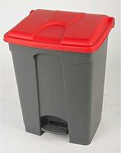 Collecteur de déchets à pédale, en plastique -