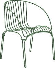 COLONIAL - Fauteuil en acier vert pastel