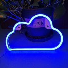 Colording Enseigne au néon en forme de nuage LED