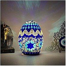 Coloré Bohemian Mosaic Table Table Lampe