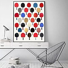 Coloré Tennis De Table Raquette Toile Peinture
