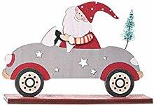 COMEYER Décoration de Noël en bois Père Noël