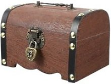 Comme montré coffre au trésor en bois, boîte