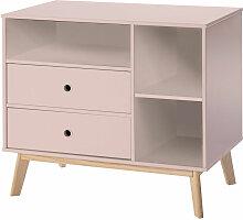 Commode 2 tiroirs 3 niches pour enfant dim. 90L x