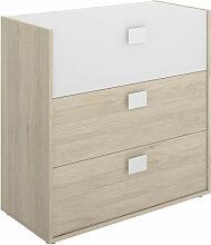 Commode 3 tiroirs 81x80x43 cm