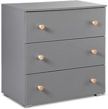 Commode 3 tiroirs littlesky by klups pauline - gris