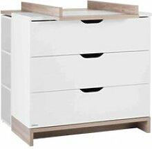 Commode 3 tiroirs   plan à langer lilo en bois