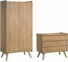 Commode à langer et armoire 2 portes vintage -