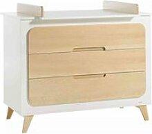 Commode bébé en bois 3 tiroirs + plan à langer
