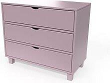 Commode bois 3 tiroirs Cube Violet Pastel