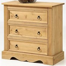 Commode buffet style mexicain pin massif finition