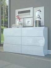 Commode en carton ondulé, made in italy, meuble