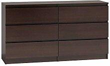 Commode M6 140 - 6 tiroirs - En bois de wengé
