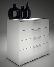 Commode MATHIAS - 4 tiroirs - blanc