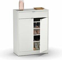 Commode meuble à chaussures coloris blanc