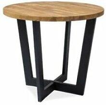 Como - table ronde en bois style loft - dimensions