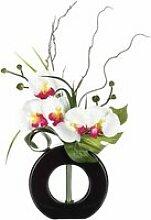 Composition florale vase noir - hauteur 44 cm -